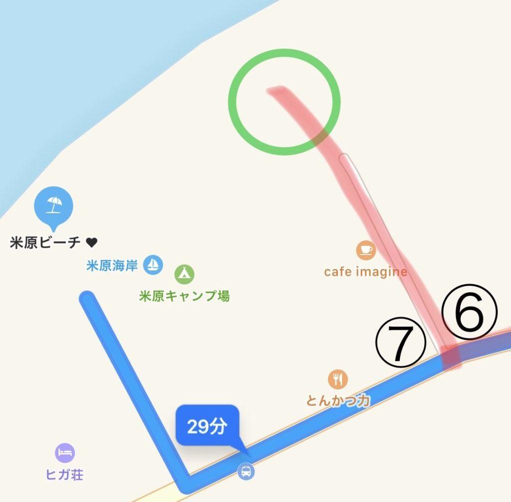 米原ビーチ 行き方 地図