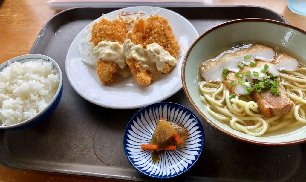宮古そば+魚フライ