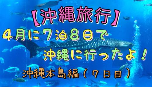 【沖縄旅行】4月に7泊8日で沖縄に行ったよ!沖縄本島編(7日目)