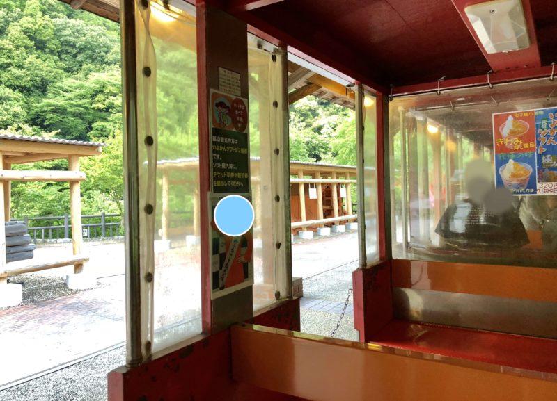 マイントピア別子 観光鉄道の車両内