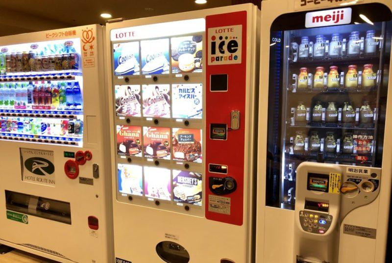ルートイン金沢駅前 リラクゼーションルームの自販機