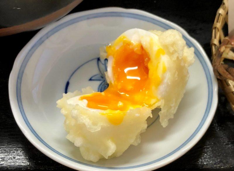 手打うどん ほの香 半熟卵天