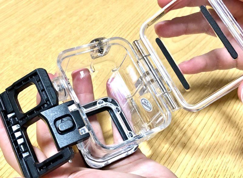 GoPro ハウジングケース開け方