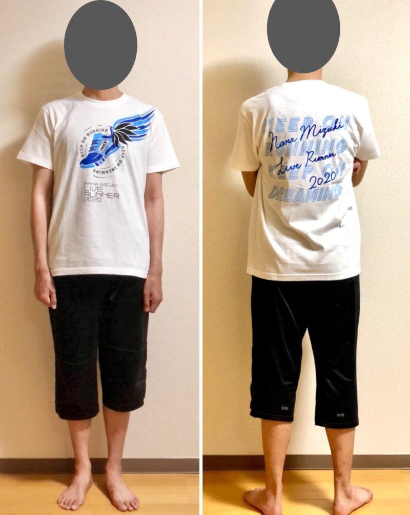 水樹奈々 LIVE RUNNER 2020グッズ NM-TEE B
