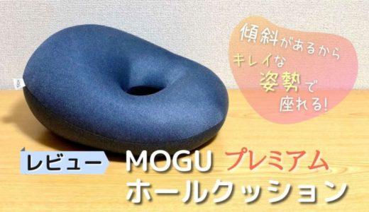 【レビュー】MOGU プレミアムホールクッション|厚め&傾斜ありで姿勢良く座れる【口コミ・評判】