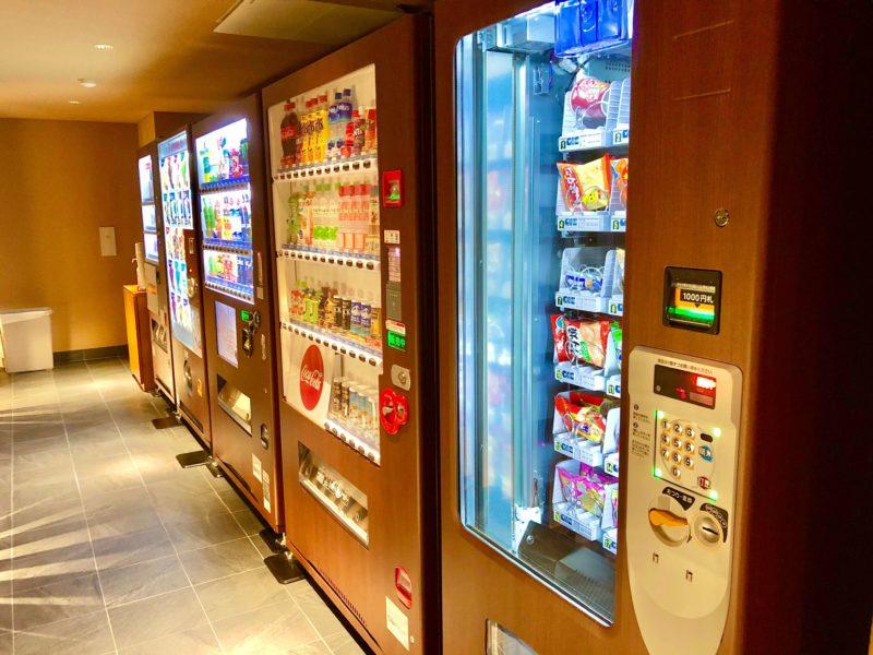 大池ホテルの自動販売機コーナー