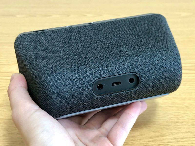 Amazon echo show 5の電源ポート・micro USBポート・3.5mmオーディオ出力ポート