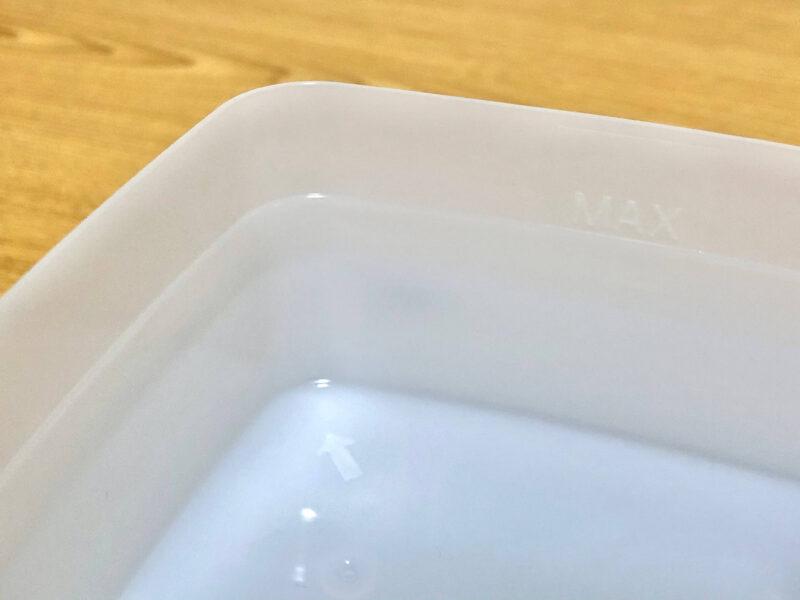 +style スマート加湿器(卓上)の給水MAXの線
