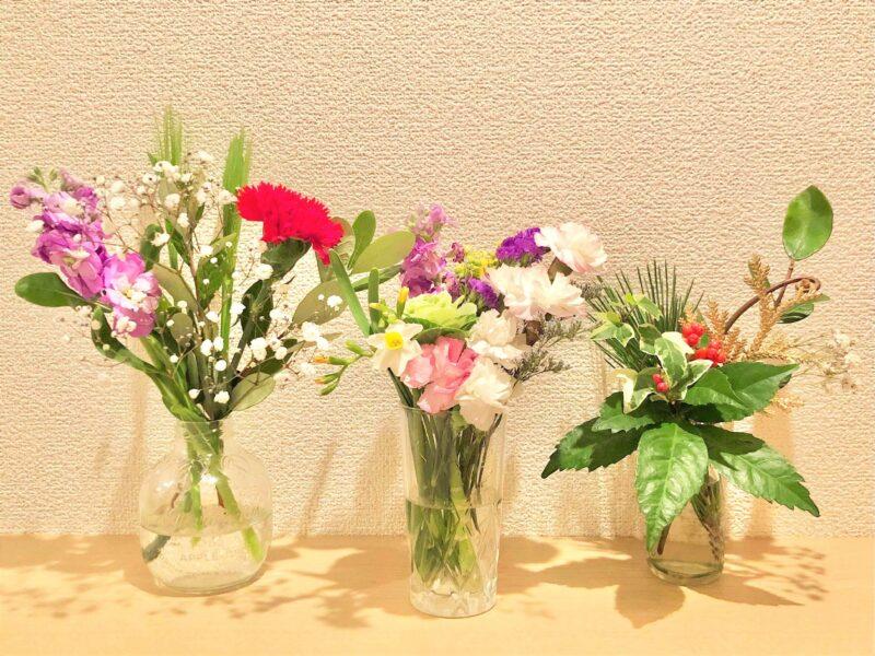 お花の定期便bloomee(ブルーミー)を利用するときに必要な花瓶の数