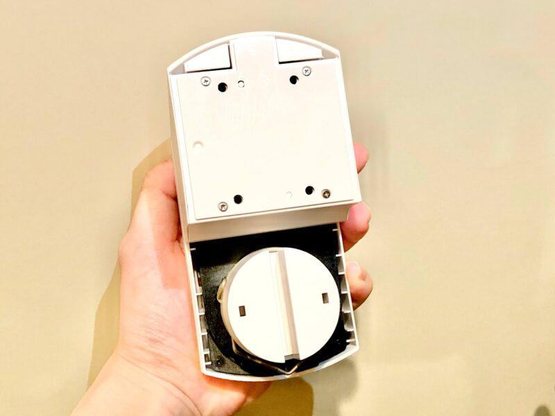 SADIOT LOCKの設置方法(サムターンホルダーを本体に取り付ける)