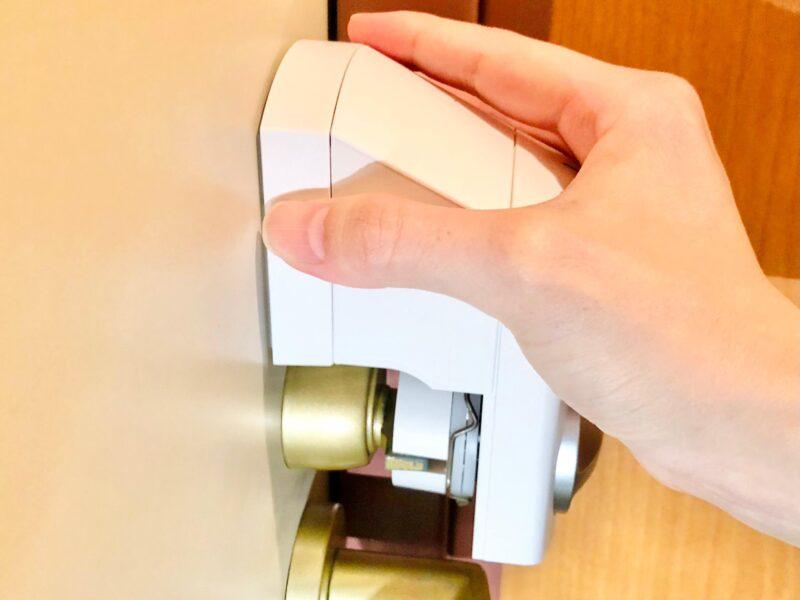 SADIOT LOCKの設置方法(スペーサーで高さを調節する)